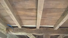 poutre et entrepoutre bois après décapage